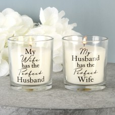 "Kaars ""My Husband & My Wife """